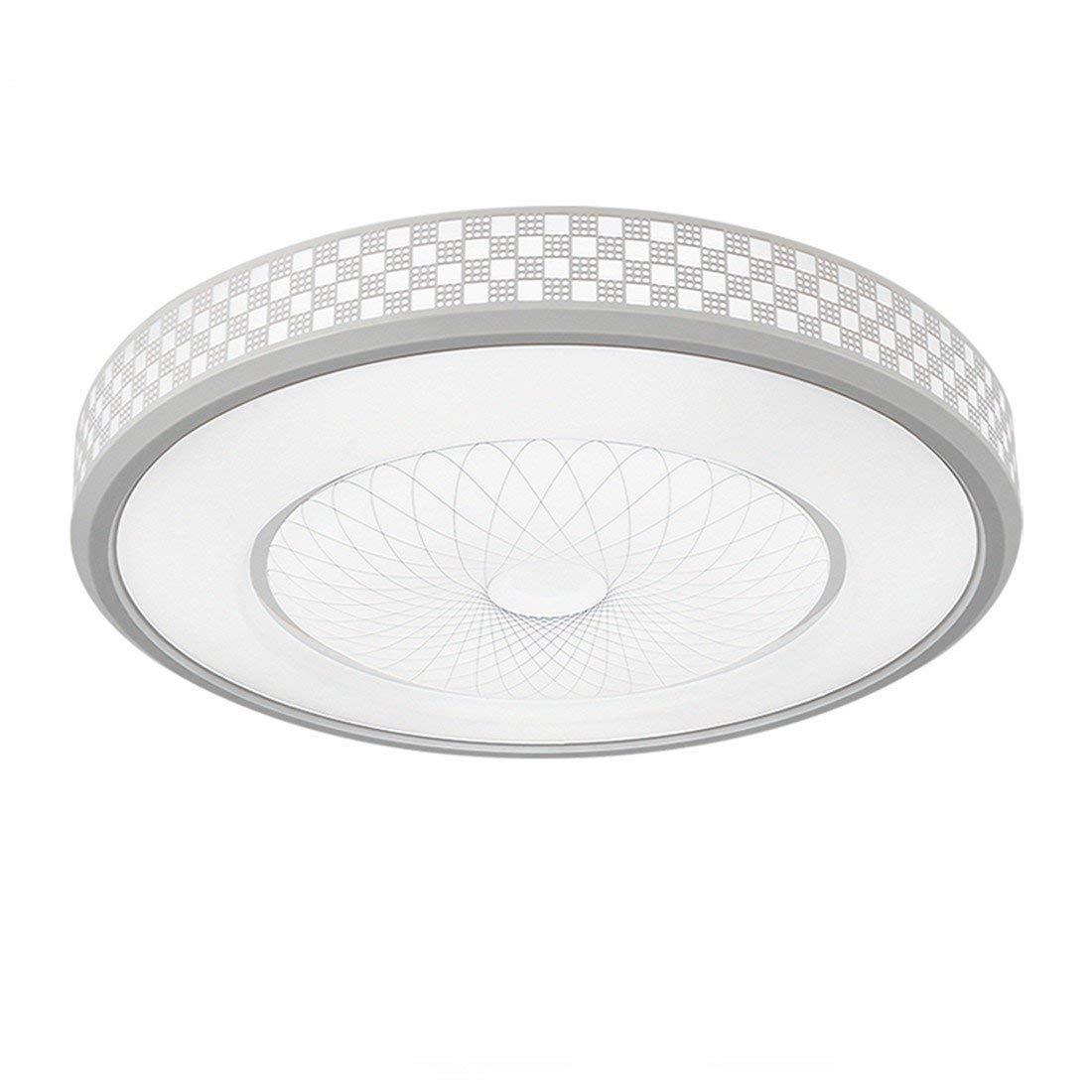 Einfache moderne Runde Bügeleisen Deckenleuchte Deckenleuchten, D 42 cm, dimmbare LED