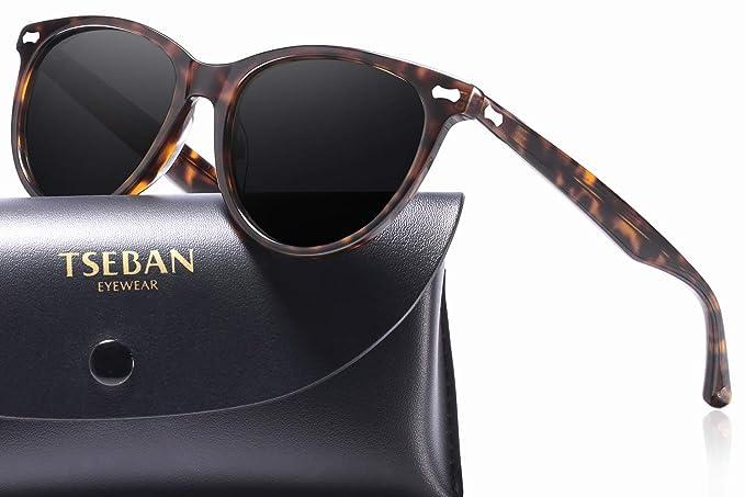 Acetatrahmen Carfia UV400 Schutz Sonnenbrille Damen Polarisierte Fahrenbrille