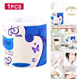 12 Rolls/Lot Roll Paper Toilet Paper 4 Layers Bathroom Toilet Kitchen Paper Tissue Cleaning Paper Wood Pulp Paper,1pcs