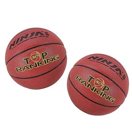 CUTICATE 2pcs Balón de Baloncesto de PU + 2 Unids Redes de Cuerda ...