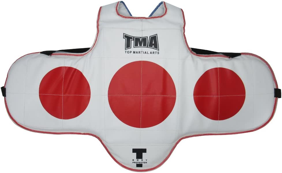 TMA Martial Arts Chest Protector Tae Kwon Do MMA Kickboxing Reversible