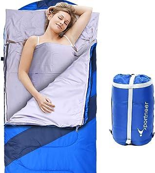 Amazon.com: Sportneer - Saco de dormir portátil grande con forro extraíble  con cremallera para camping, senderismo, mochila: Sports & Outdoors