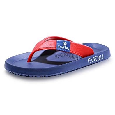 Sixspace Unisex-Erwachsene Zehentrenner Flip Pantoffeln für Damen Herren Kinder,Blau 42 EU