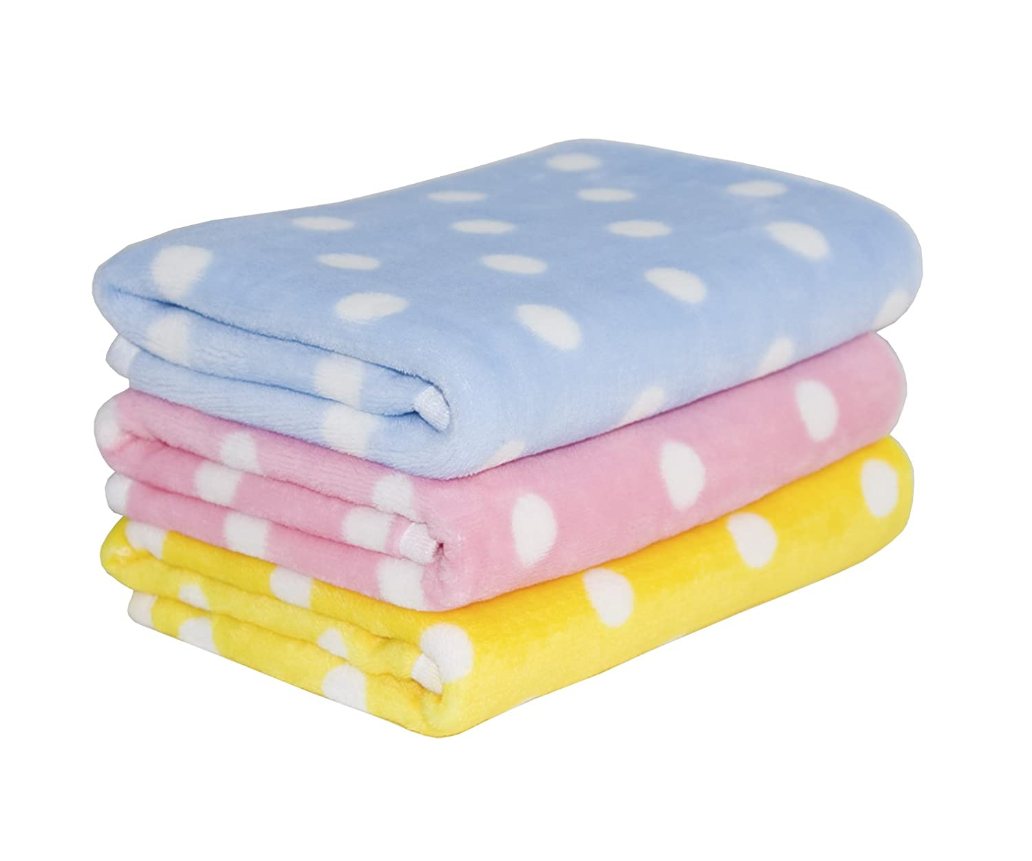3 Pack 3 Colors Fleece Pet Dog Blanket & Lovely Baby Best Puppy Blanket for Car,Couch,Bed & Cat soft,Lightweight, Breathable Blankets
