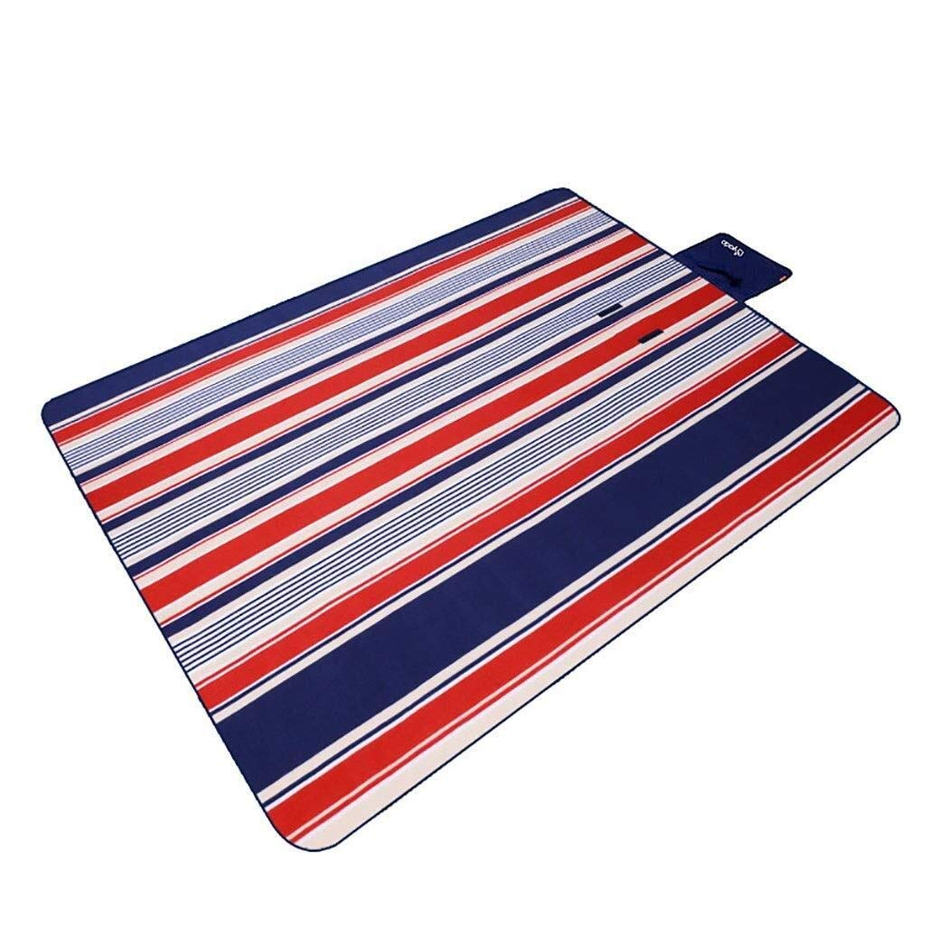 ZKKWLL Picnic Blanket Washable Picnic Blanket 200x150cm Picnic Blanket Waterproof Backing Outdoor Beach Picnic Carpet mat with Handle Beach mat (Color : A) by ZKKWLL
