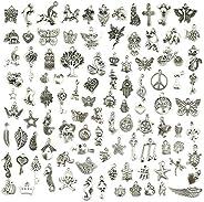 Jialeey (100 Peças Sortidas) - Conjunto de Pingentes Tibetanos para Bijuteria