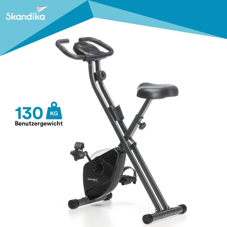 Skandika Foldaway X-1000 - Bicicleta estática fitness - 8 niveles de resistencia - máx.110 kg - plegable (negra): Amazon.es: Deportes y aire libre