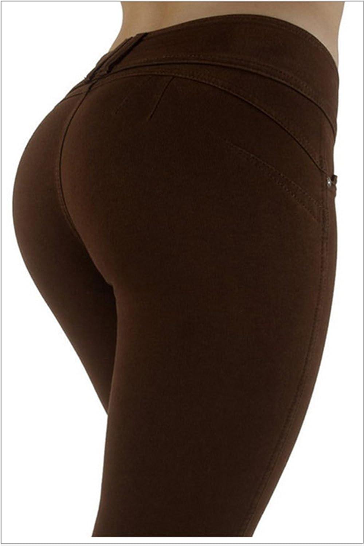 Darrin, pantaloni da donna aderenti, elasticizzati e a vita alta bianco bianco s