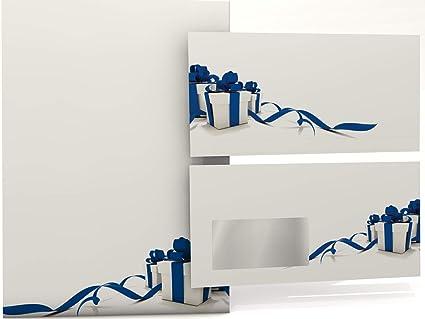 Navidad Papel Regalos Azul, 100 hojas de papel diseño navideño, 90 ...