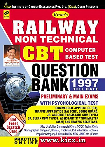Railway Non-Technical CBT Question Bank 1997 till Date - 2047