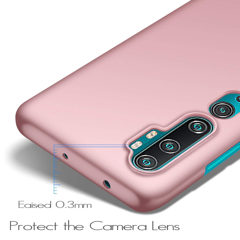 Funda Xiaomi Mi Note 10 Funda Xiaomi Mi Note 10 Pro Ultra Slim Anti-Rasgu/ño y Resistente Huellas Dactilares Totalmente Protectora Caso de Duro Cover Case anccer Funda Xiaomi Mi CC9 Pro Rosa