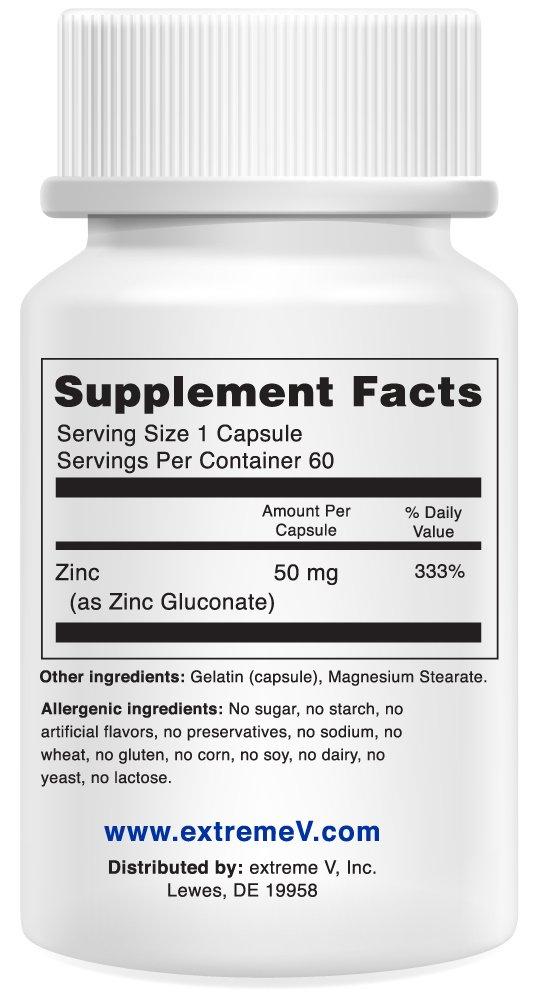 Amazon.com: # 1 recomendado OTC Zinc – gluzin – Zinc, 50 mg ...