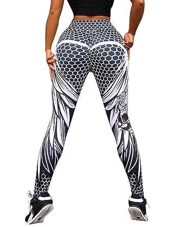 Amazon.com: Bangerdei - Mallas de yoga para mujer con ...