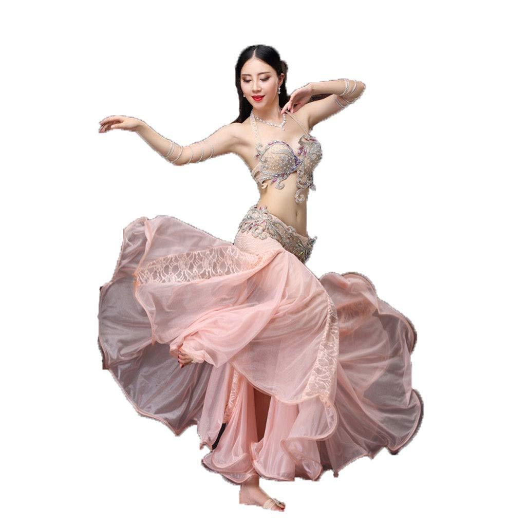 公式の  ベリーダンスの衣装の女性の大人の長いスカートのスーツスリーピースのパフォーマンスの服 B07PDK5CGH M|Shrimp red M Shrimp Shrimp red red M, 東京リサイクルショップ:30e26f85 --- a0267596.xsph.ru