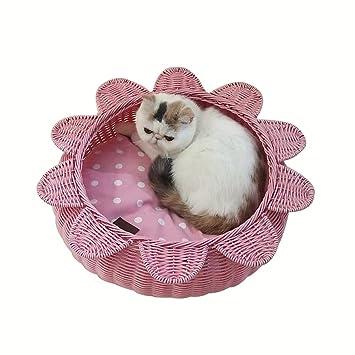 XF Cama para Tiendas de Cueva de Mascotas para Perros y Gatos- Cama Cerrada para