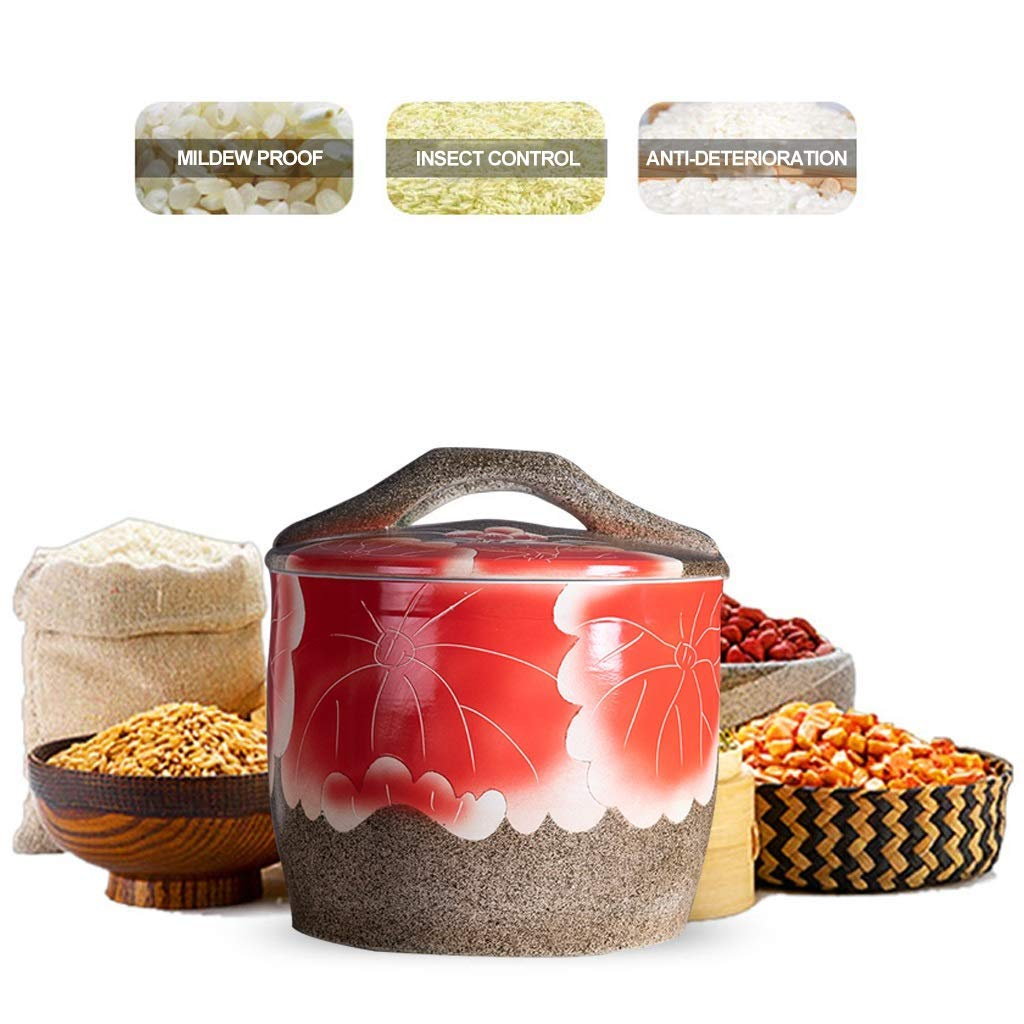 XD Panda Cubo de arroz de cerámica Contenedor de Granos Caja de ...