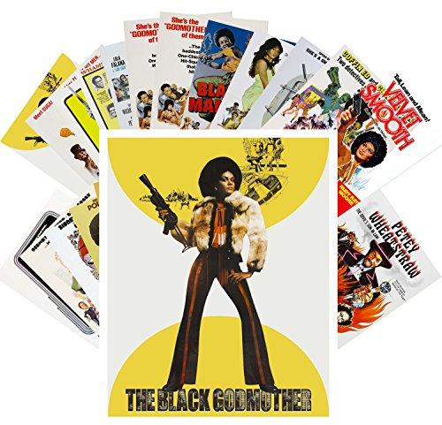 (Postcard Set 24 cards Blaxploitation Ladies Vintage Trash Movie Posters)