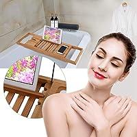 Estante de la bañera, estante de madera
