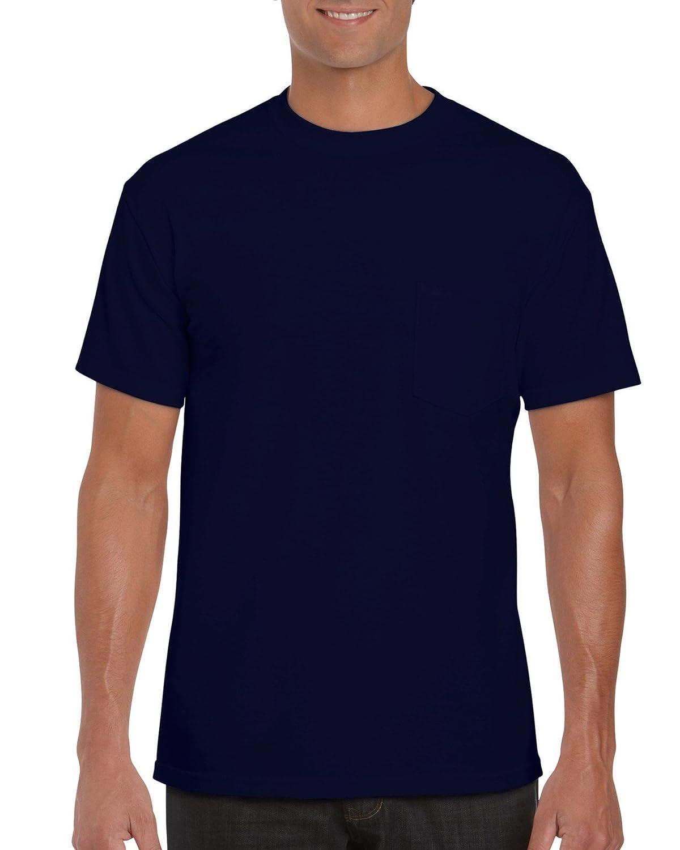 GILDAN メンズ ワークウェア ポケット付きTシャツ B01C5GL1MC M|ネイビー ネイビー M