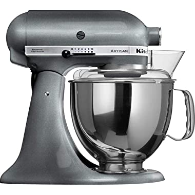 KitchenAid KSM150PSPM Artisan Stand Mixers, 5 quart, Pearl Metallic