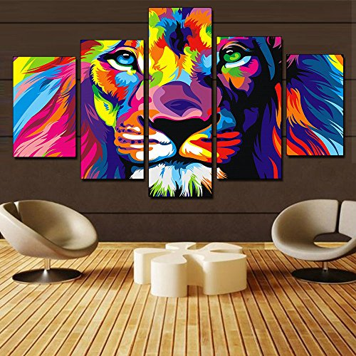 Panels Abstract Colorful Painting Decoration