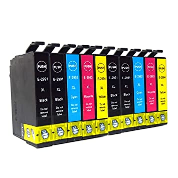 Ouguan - 10x Cartuchos de tinta compatibles con Epson 29XL 29 para ...