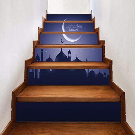 YWLINK Blessing Stairs Fashion Stairs Pegatinas De Pared Creativos 6 Piezas Durable Y Resistente Al Agua Una CalcomaníA De Escaleras De Arte: Amazon.es: Hogar