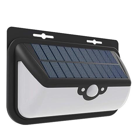 Foco Solar,Luces Solares para Exterior,FUNANASUN 68 LED Lámpara Solar con Sensor de