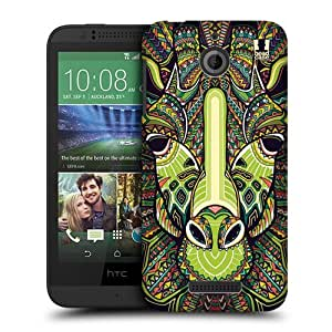 Head Case Designs Giraffe Aztec Animal Faces 6 Protective Snap-on Hard Back Case Cover for HTC Desire 510 by ruishername