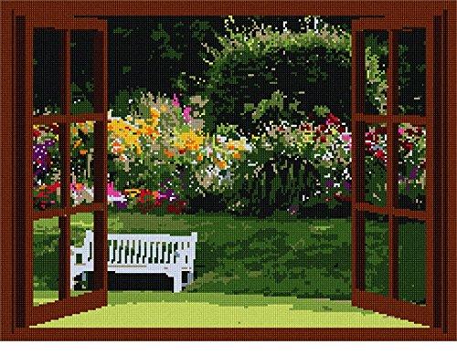 (pepita Open Window Garden Needlepoint Canvas)