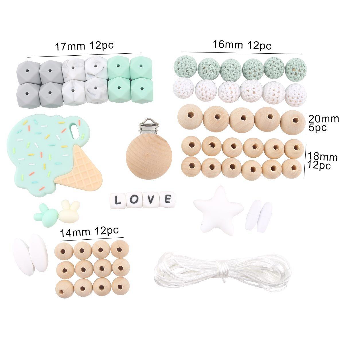 Amazon.com: HAO JIE - Clips para chupete de bebé, juguetes ...