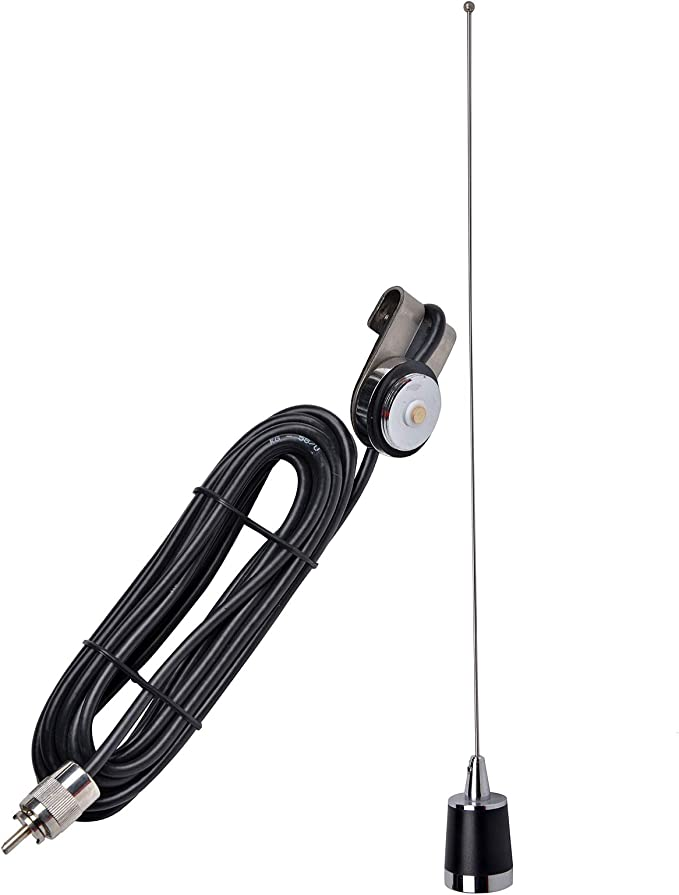 Mobile Antenna VHF UHF Magnet Mount RG-58U 14FT//4M Coaxial Cable PL-259 Plug for Car Radio Walkie Talkie CR-77