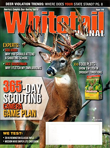 Whitetail Journal Magazine August 2016 | 365 day scouting camera game plan
