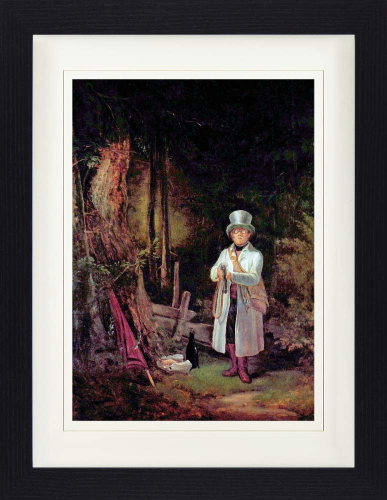 Der Sonntagsj/äger Detail Gerahmtes Poster F/ür Fans Und Sammler 40 x 30 cm 1art1 113590 Carl Spitzweg 1845