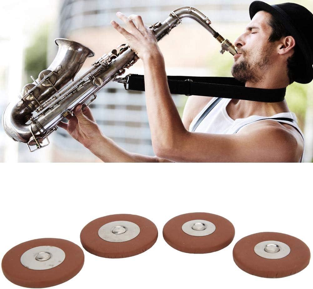 Dilwe 28 Pezzi di Ricambio per Cuscinetti in Pelle Sax Multi Formato per Sassofono Soprano Saxophone Pad
