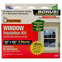 THERMWELL - Window Insulation Kit, 3-Pk. Window Sheets, 12-Pk. Switch Plate / Outlet Sealers by THERMWELL