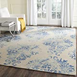 Safavieh Dip Dye Collection DDY516A Handmade Watercolor Vintage Erased Weave Medallions Beige and Blue Wool Area Rug (8′ x 10′) Review
