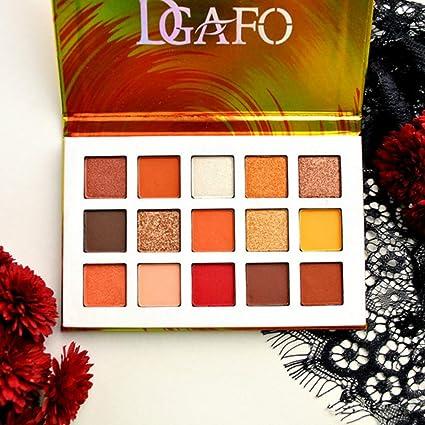 Paleta de sombra de ojos de 15 colores esmaltados con purpurina y brillo para cosméticos