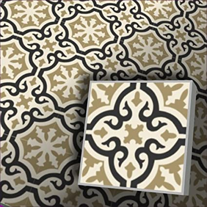 Zementfliesen Iraquia ocker Bestelleinheit: Karton mit 10 Fliesen