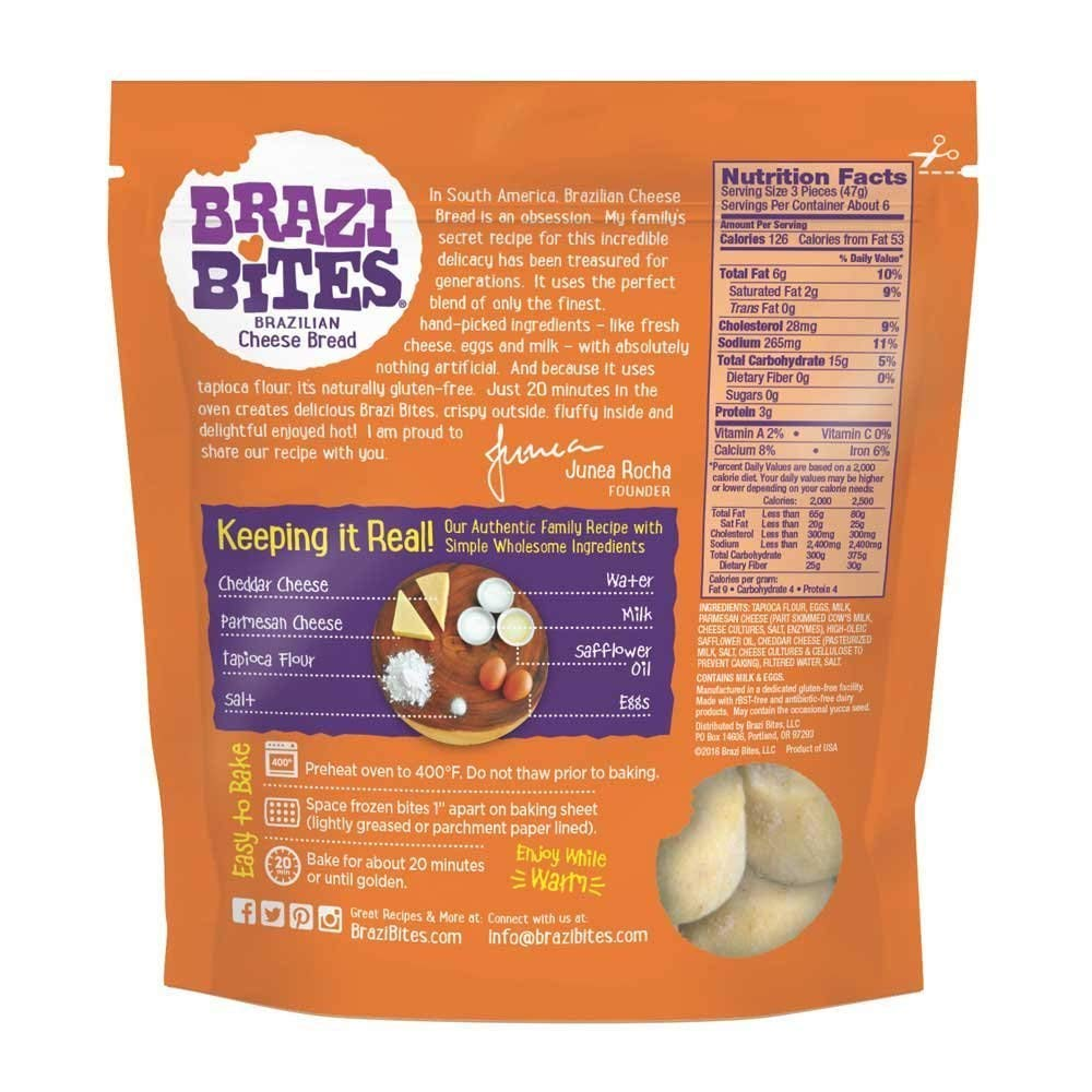 Brazi Bites, Brazilian Cheese Bread, Original, 11.5 oz (Frozen): Amazon.com: Grocery & Gourmet Food
