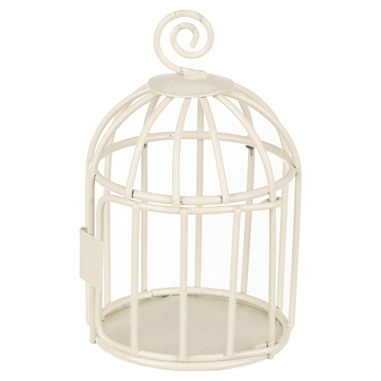 Ivory Medium Wire Mesh Bird Cage EGT