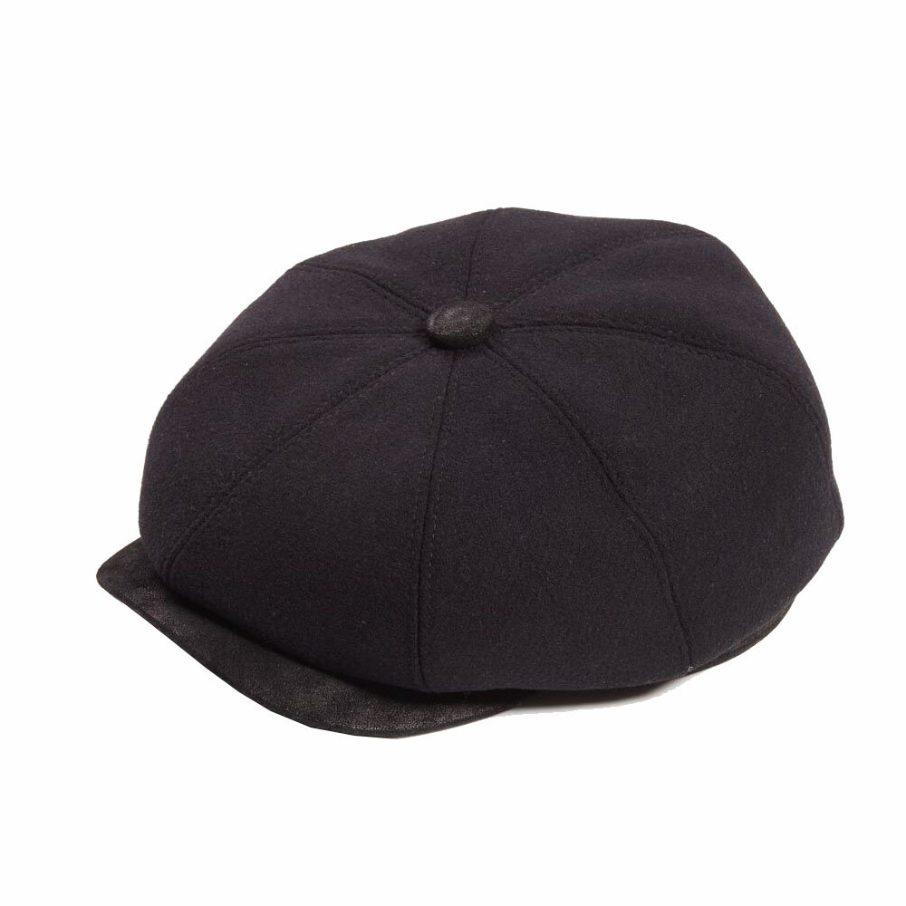 MENS NEWSBOY BAKER BOY PAPER BOY PEAKY BLINDERS BLACK CABBY CAP MEDIUM  56-57cm