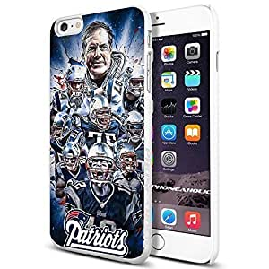 NFL New England Patriots , , Cool iphone 5s (+ , Inch) Smartphone Case Cover Collector iphone TPU Rubber Case White [By PhoneAholic]