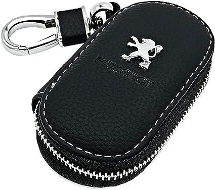 dise/ño con logotipo de Peugeot Llavero para llaves de coche logo de la marca de piel