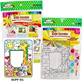 Creating your Own Sun Catcher Photo Frame Painting Kit Handmade Craft for Children, Girls and Boys with SCPF-01 Rabbit/Bear/Giraffe Design
