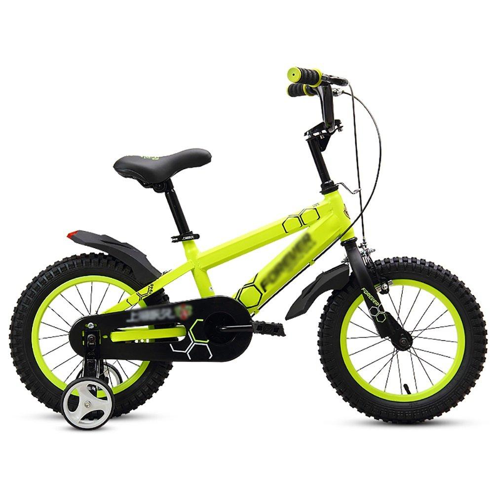 子供用自転車ベビー用ペダル自転車キッズバイク2-3-4-5-6歳12 14 16 18乳児用自転車ベビーカースポークホイールワンホイールイエロー B07DWJX9DM 16 inch|One wheel One wheel 16 inch