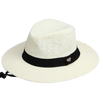 76e03a5cb47 Trilby Panama Jazz Hat Men Ladies Straw Sun Hat White