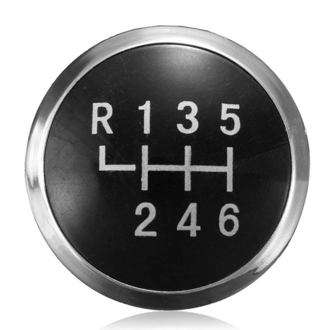 Formulaone 6 Vitesse Vitesse Bouton poign/ée b/âton embl/ème Insigne Capuchon Garniture Couvercle de la Voiture Car-Styling Cap d/écoratif pour VW Transporteur t5 t5.1