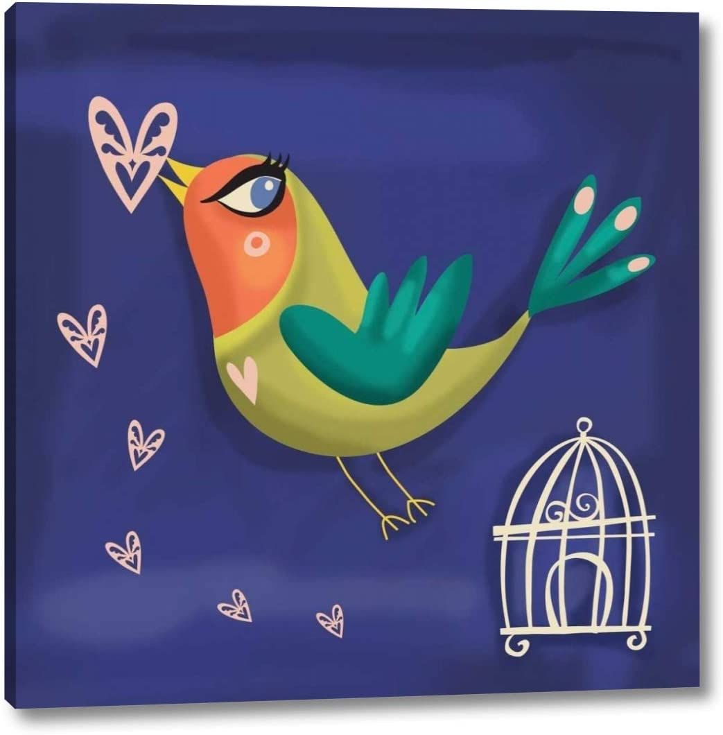 Amazon Com Love Bird By P S Art Studios 38 X 38 Canvas Art Print Gallery Wrapped Ready To Hang Posters Prints