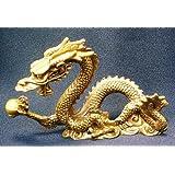 風水 五本爪 龍の置物 銅製 4寸単龍